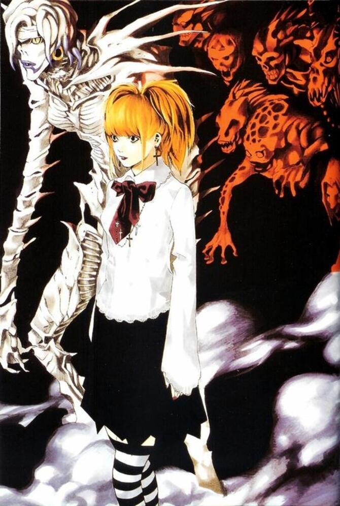Аніме Арт, Death Note, Тетрадь смерти, Light Yagami, Misa Amane, Ryuk, Rem, L, Mello, Near 893324386