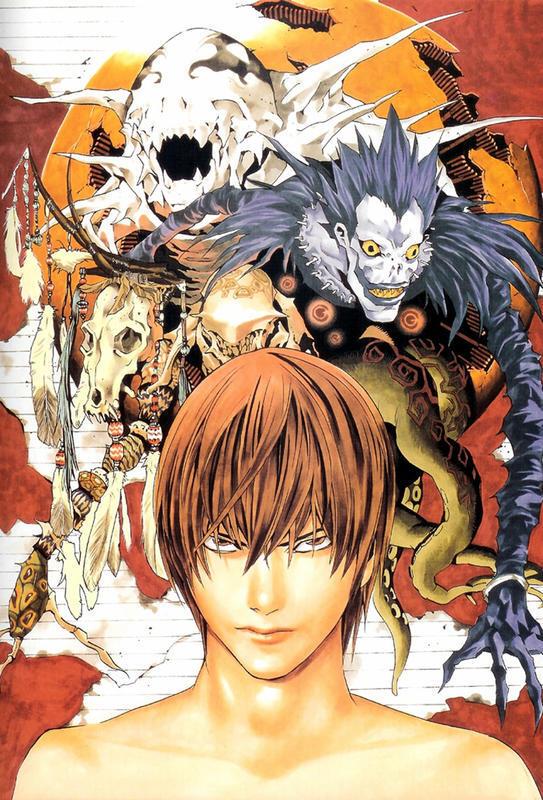Аніме Арт, Death Note, Тетрадь смерти, Light Yagami, Misa Amane, Ryuk, Rem, L, Mello, Near 1246279639
