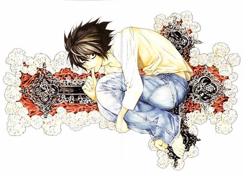 Аніме Арт, Death Note, Тетрадь смерти, Light Yagami, Misa Amane, Ryuk, Rem, L, Mello, Near 1238344835