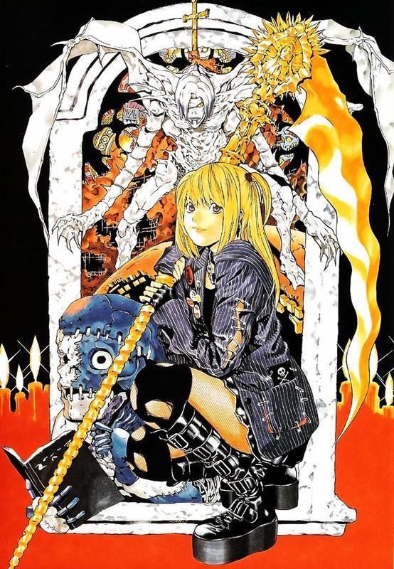 Аніме Арт, Death Note, Тетрадь смерти, Light Yagami, Misa Amane, Ryuk, Rem, L, Mello, Near 411744931