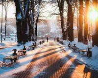 Природа Природа, Ліс, Зима, Захід сонця, Схід сонця 1634392290
