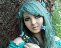 Дівчата / Жінки, Косплей Девушки на природе, Девушки с синими волосами, Девушка и цветы id688254515