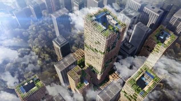 У Токіо будують дерев'яний хмарочос на 70 поверхів